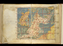 Greek Ptolemaic Map Of The British Isles, Ca. 1300